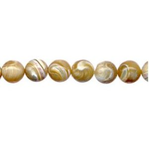 """9151 - 10mm Mother Of Pearl (Natural) - 16"""" Strand"""
