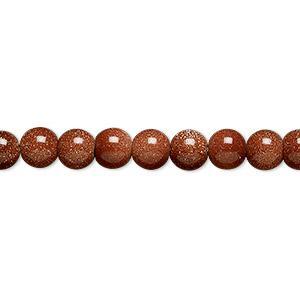 "9154 - 10mm Gold Stone Beads - 16"" Strand"
