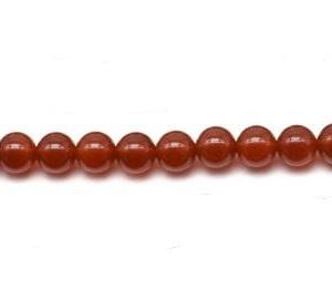 "9159 - 10mm Carnelian Stone Beads - 16"" Strand"