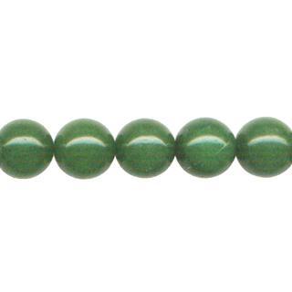"""9164 - 10mm Green Jade Stone Beads - 16"""" Strand"""