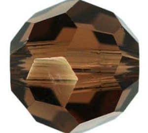 5000 - 16mm Swarovski Round Crystal - Smoked Topaz
