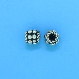 15006 - Bali Silver Bead 6x4mm