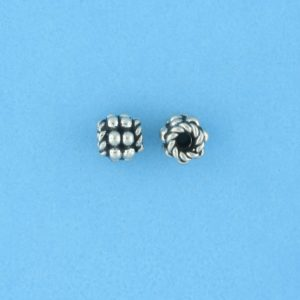 15007 - Bali Silver Bead 5x5mm
