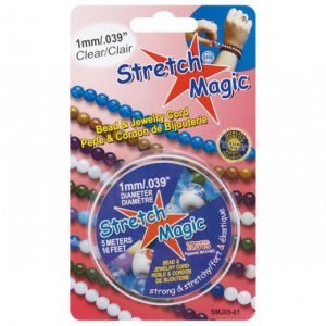 11058 - 1mm Stretch Magic Elastic Jewelry Cord Clear (25 meter)