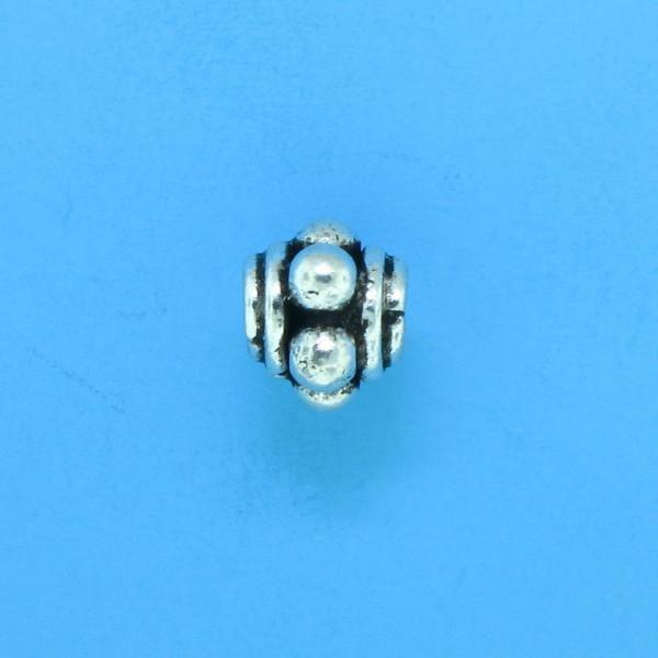 15011 - Bali Silver Bead 6x7mm