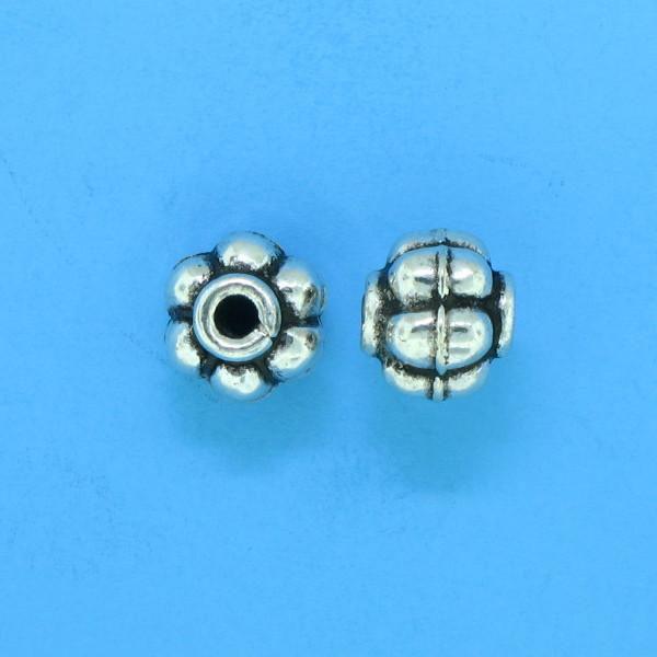 15012 - Bali Silver Bead 6x5.5mm
