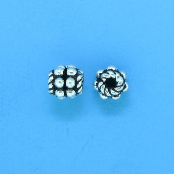 15013 - Bali Silver Bead 5x4.5mm