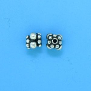 15014 - Bali Silver Spacer Bead 4.5x4.5mm