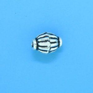 15017 - Bali Silver Bead 8x7mm
