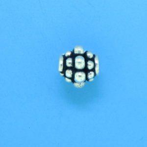 15018 - Bali Silver Bead 7x7mm