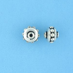 15020 - Bali Silver Bead 8x6.5mm