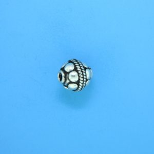 15022 - Bali Silver Bead 9x9mm