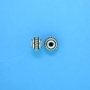 15026 - Bali Silver Bead 7x5mm