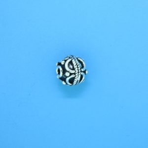 15031 - Bali Silver Bead 8.5x9mm