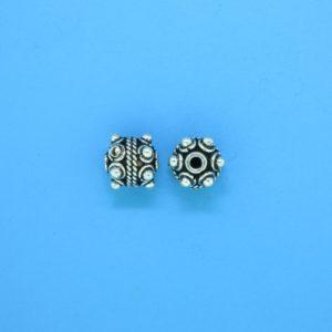 15032 - Bali Silver Bead 7x7mm