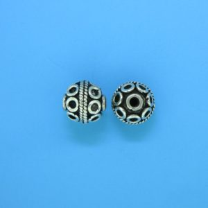 15039 - Bali Silver Round Bead 9x9mm