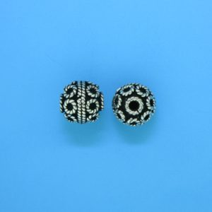 15040 - Bali Silver Round Bead 9x9mm