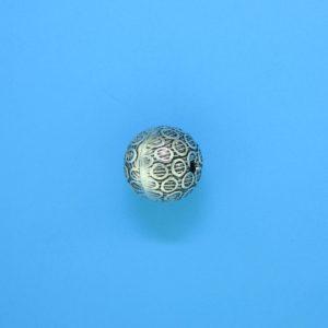 15042 - Bali Silver Round Bead 10x9.5mm
