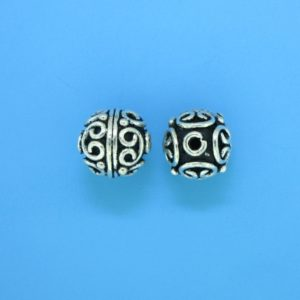 15043 - Bali Silver Round Bead 10x10mm