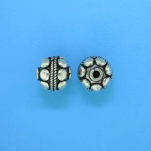 15045 - Bali Silver Bead 10x10mm