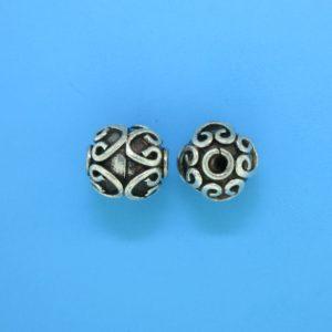 15046 - Bali Silver Bead 10x11mm