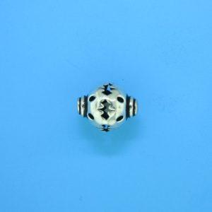 15048 - Bali Silver Bead 12x10mm