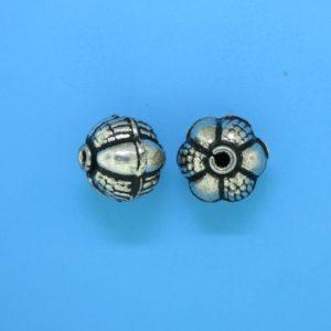 15050 - Bali Silver Round Bead 11x11.5mm