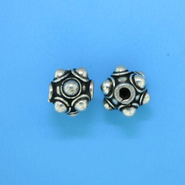 15052- Bali Silver Bead 10x12mm