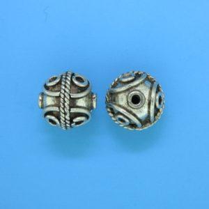 15054 - Bali Silver Round Bead 12x12mm