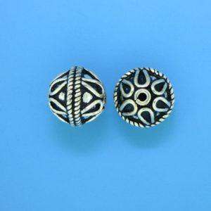 15055- Bali Silver Round Bead 12x12mm