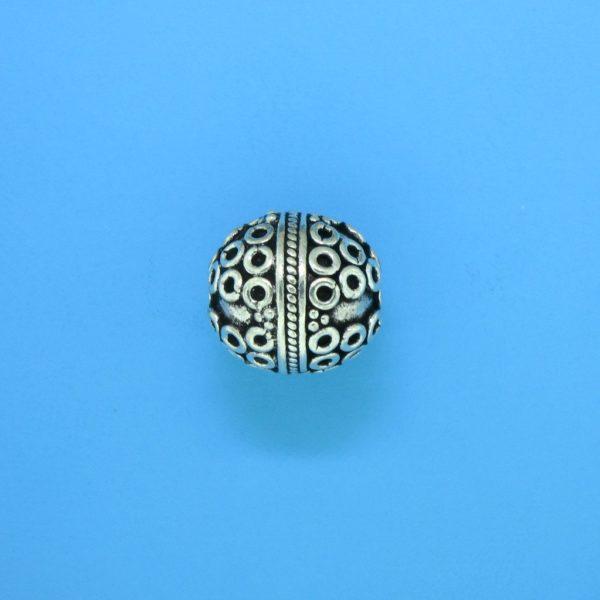 15056- Bali Silver Round Bead 12x12mm