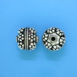 15063 - Bali Silver Bead 12x13.5mm