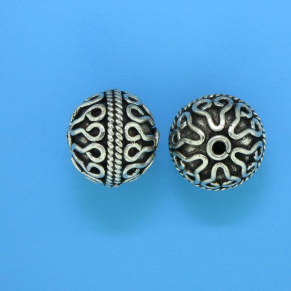 15064 - Bali Silver Bead 14.5x14mm