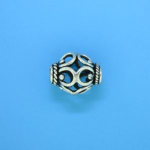 15065 - Bali Silver Bead 15x12.5mm