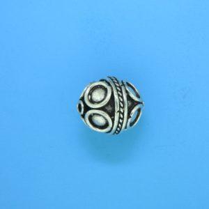 15066 - Bali Silver Bead 14x12mm