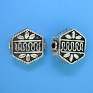 15069 - Bali Silver  Bead 16x16x6mm