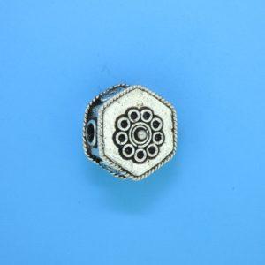 15071 - Bali Silver  Bead 15x15x7mm