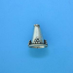 15075 - Bali Silver Cone 14x10mm