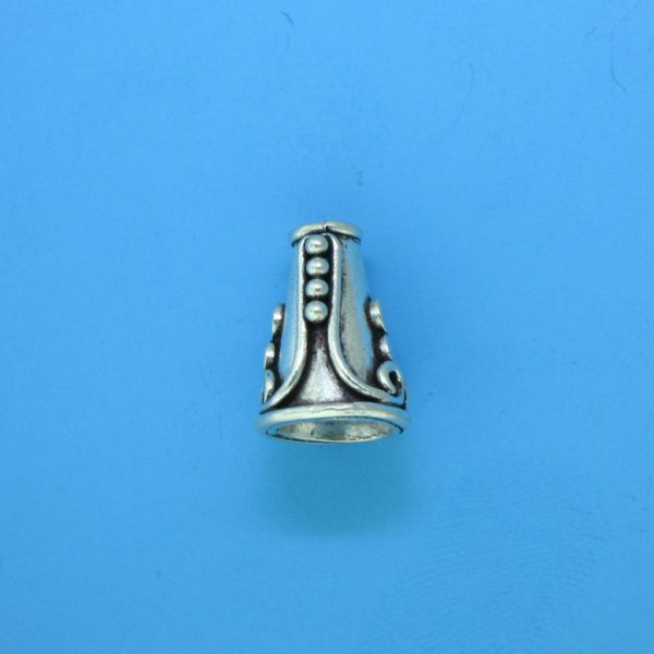 15076 - Bali Silver Cone 13.5x10mm