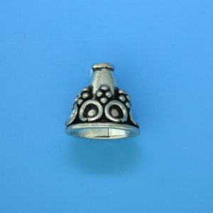 15077 - Bali Silver Cone 14x15mm