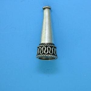 15078 - Bali Silver Cone 25x11mm