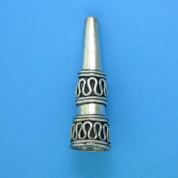 15079 - Bali Silver Cone 32x10mm