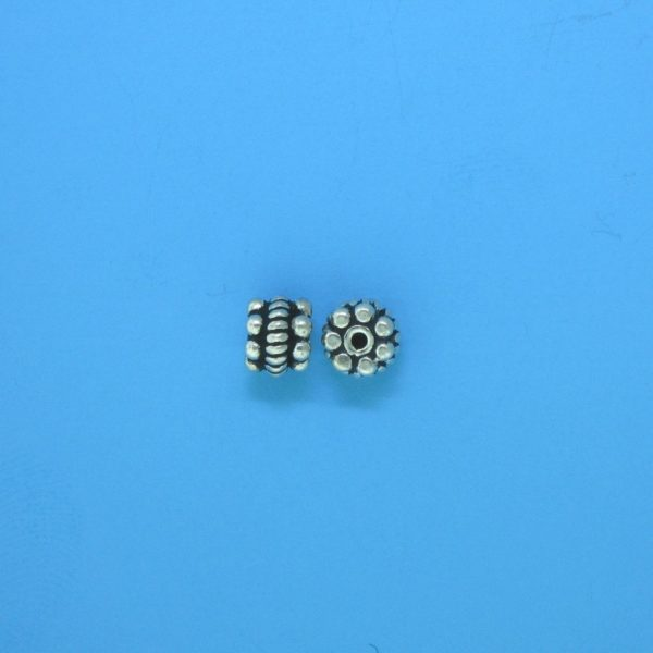 15082 - Bali Silver Spacer Bead 5x4mm