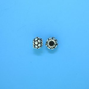 15084 - Bali Silver Spacer Bead 6x4.5mm