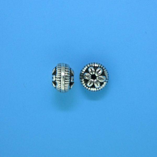 15088 - Bali Silver Bead 6x8mm