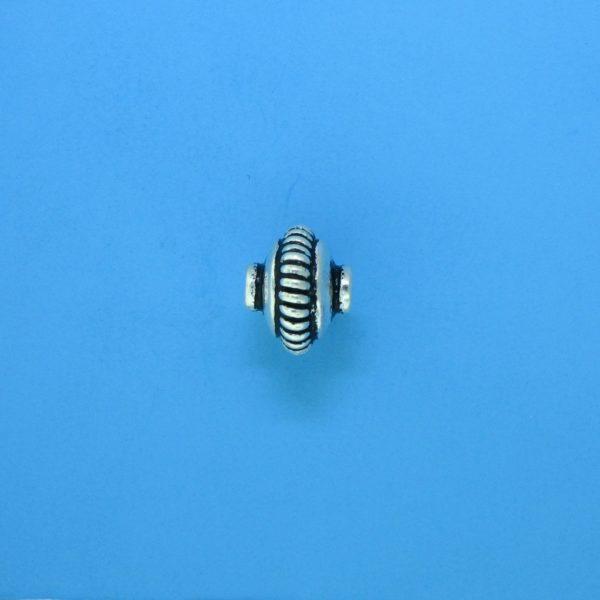 15089 - Bali Silver Bead 9x7mm