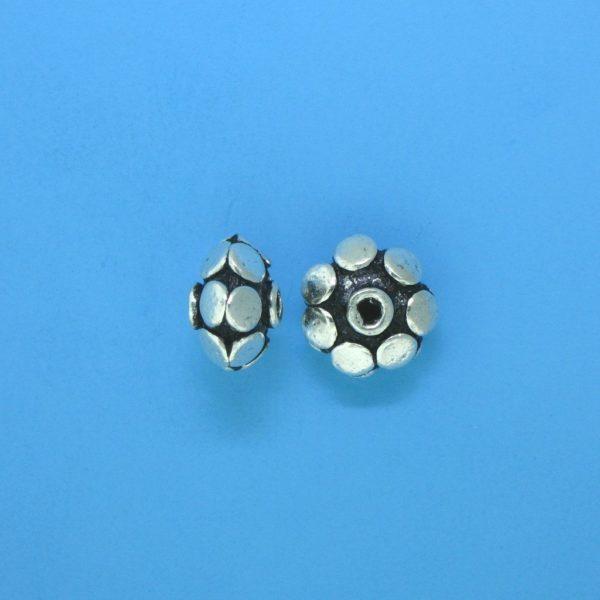 15092 - Bali Silver Bead 9x7mm