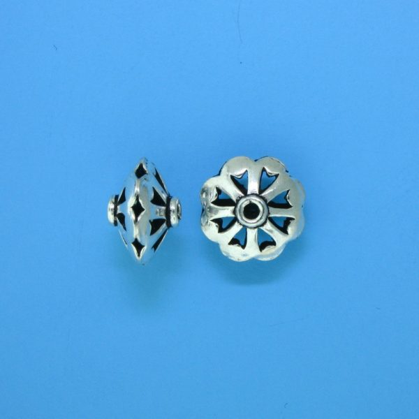 15094 - Bali Silver Bead 10x7mm