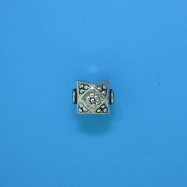 15100 - Bali Silver Bead 9x8.5x8mm