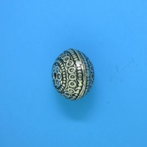 15108 - Bali Silver Bead 15x11mm